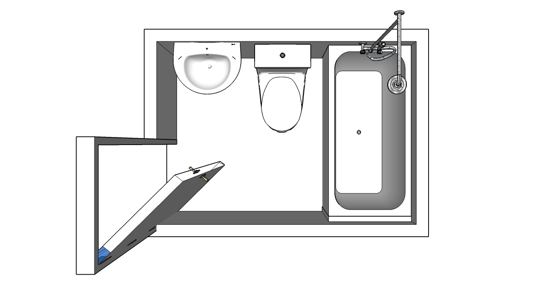 Inodoros para espacios reducidos finest foto atrezo for Inodoros para espacios reducidos